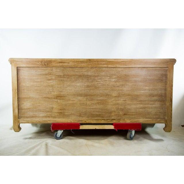 Custom Solid Teak Modern Long Dresser For Sale - Image 5 of 11