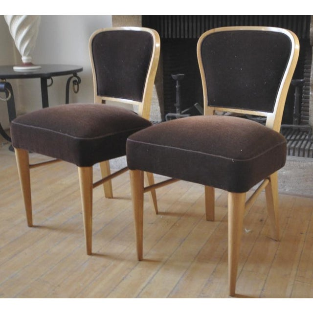 """Jean Royère Jean Royere Documented Pair of Chairs Model """"Restaurant Drouant"""" For Sale - Image 4 of 9"""