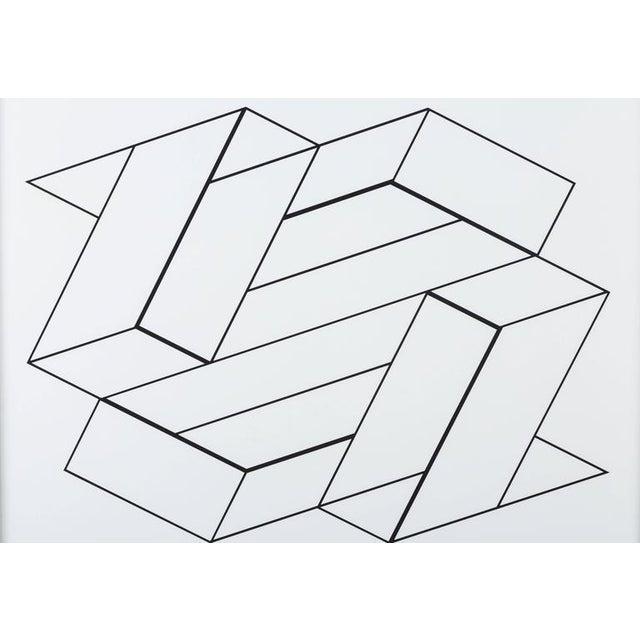 Josef Albers from Formulation: Articulation, 1972. Silkscreen prints, Folio II / Folder 21. Floated in 12 karat white gold...
