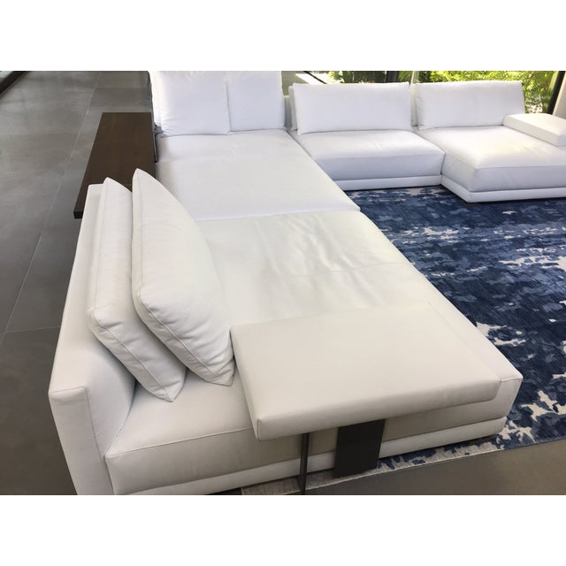 Amazing Poliform Bristol Leather Couch With Table Pabps2019 Chair Design Images Pabps2019Com