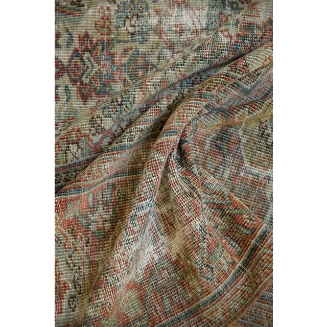 "Vintage Distressed Fragment Mahal Carpet - 7'2"" X 9'6"" For Sale - Image 9 of 12"