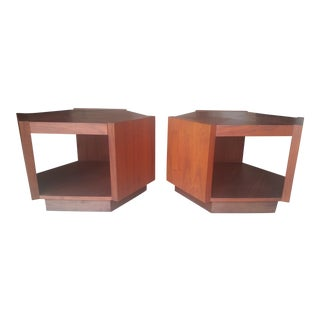Mid-Century Low Hex Cocktail Tables - A Pair