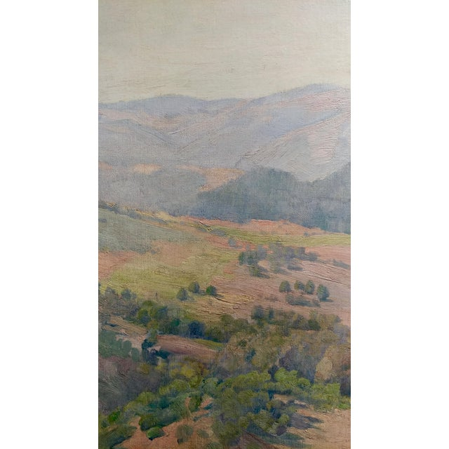 Charles Fries -The Land of the Oaks-California Plein Air Oil Painting c1918 For Sale - Image 5 of 12
