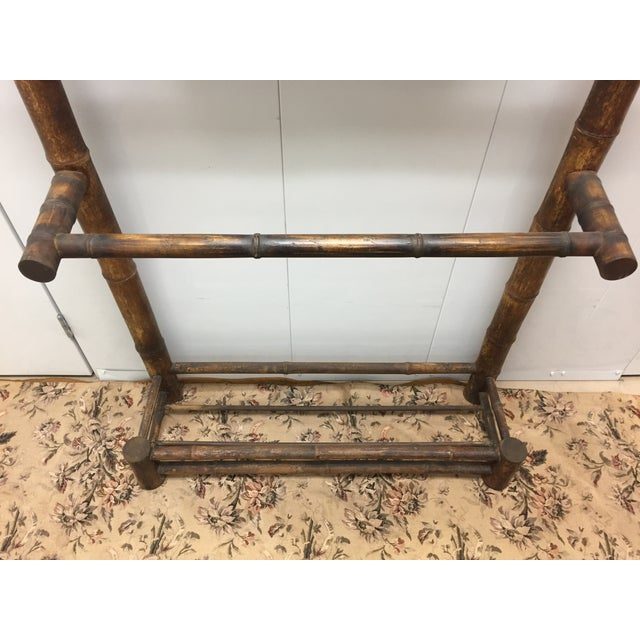 Late 19th Century Late 19th Century Antique French Faux Bamboo Mirrored Coat Rack For Sale - Image 5 of 9