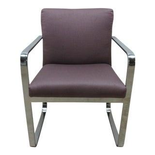 Vintage Chrome Flat Stock Club Chair