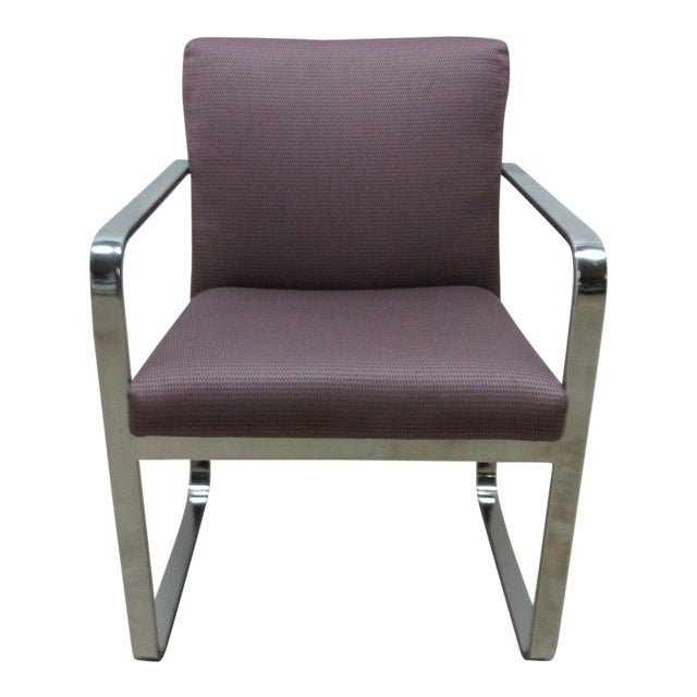 Vintage Chrome Flat Stock Club Chair For Sale