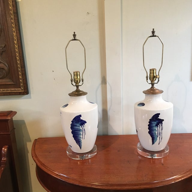 lamps rowe ebay lamp in sage belted pottery woven window made radditude vermont co