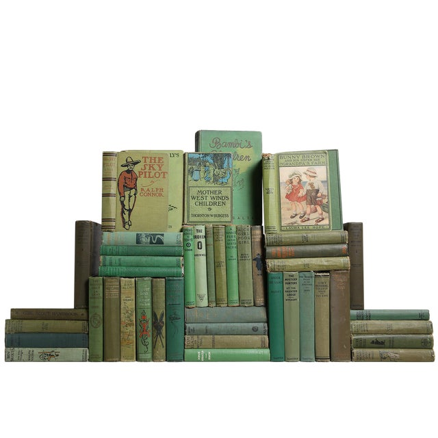 Vintage Green Children's Library, S/45 For Sale