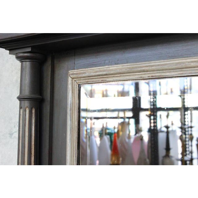 French 19th Century Carved Columned Mantel Mirror For Sale - Image 9 of 11