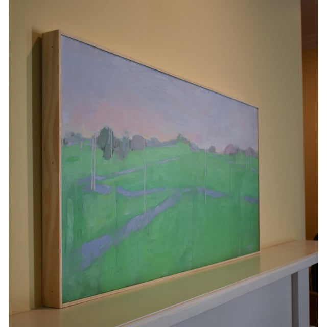 "Green Stephen Remick ""Spring Rising"" Contemporary Painting For Sale - Image 8 of 11"