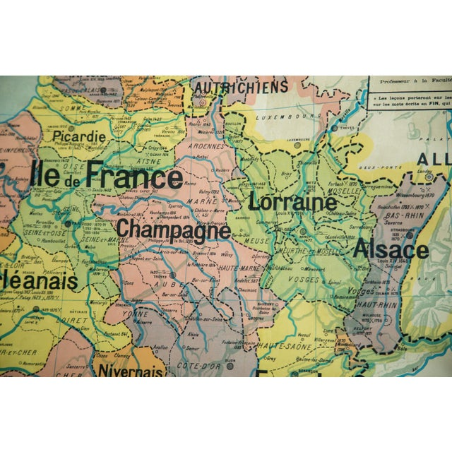 Antique Pull Down Map of France For Sale - Image 5 of 6
