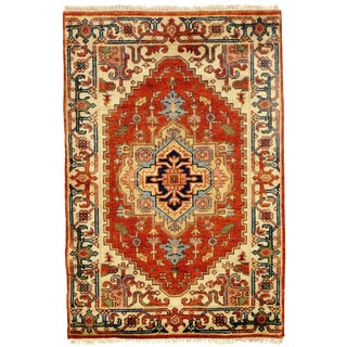 "Traditional Pasargad N Y Fine Serapi Design Hand-Knotted Rug - 2'10"" X 4'2"""
