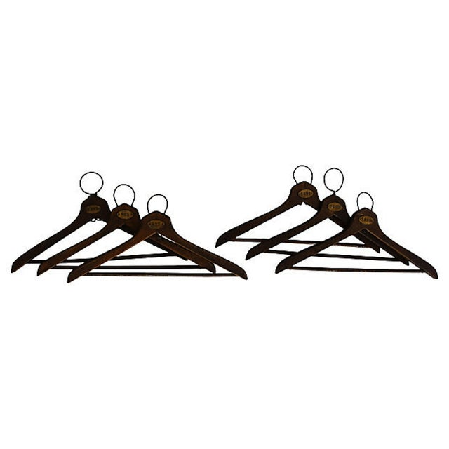 1930's Coat Check Numbered Hangers- Set of 6 - Image 1 of 5