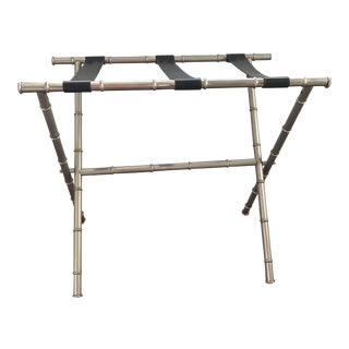 Vintage Metal Faux Bamboo Luggage Stand