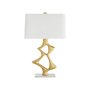 Arteriors Modern Gold and Marble Paley Table Lamp For Sale