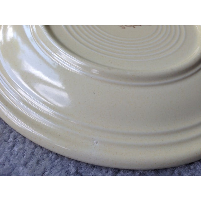 "Vintage Fiestaware 9"" Luncheon Plate For Sale - Image 7 of 8"