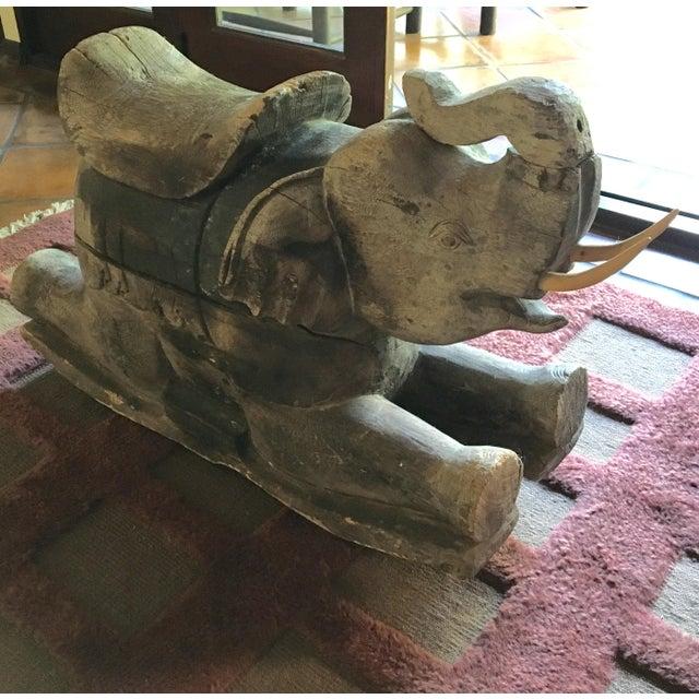 Thai Wood Elephant - Image 3 of 3