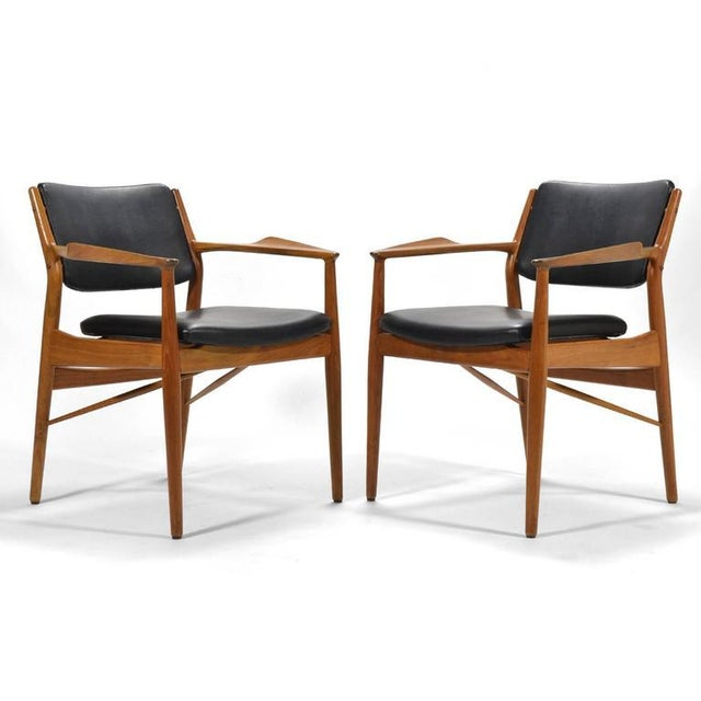 1950s Arne Vodder Armchairs by Sibast For Sale - Image 5 of 8