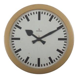 Siemens Halske Factory, Workshop or Train Station Clock For Sale