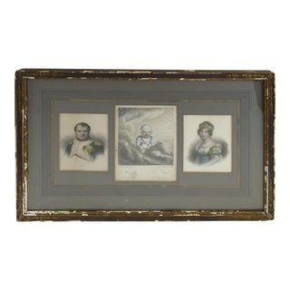 Napoleon, Marie Louise and Napoleon II Framed Etchings For Sale