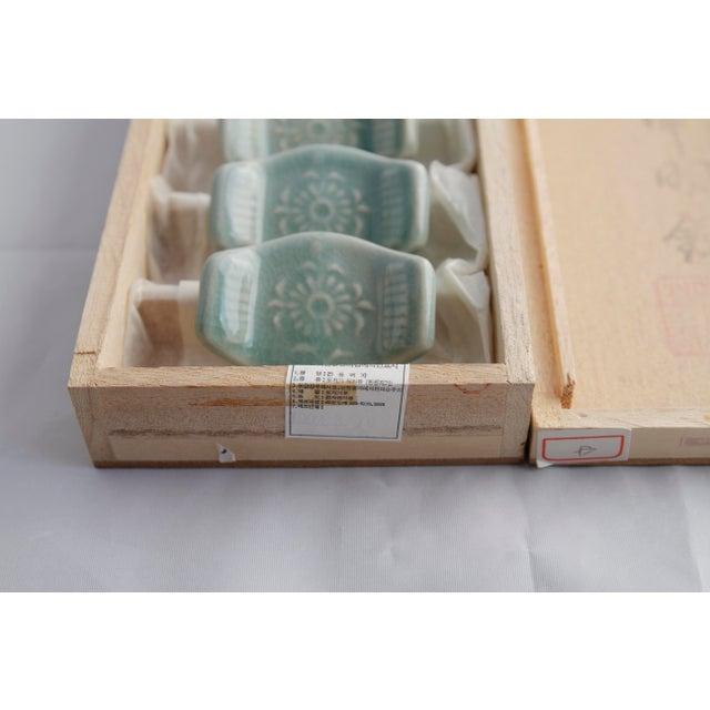 Vintage Asian Ceramic Celadon Chopstick Rests - Set of 6 - Image 9 of 10