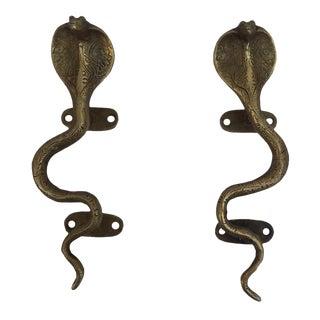 Brass Cobra Cabinet Pulls - A Pair