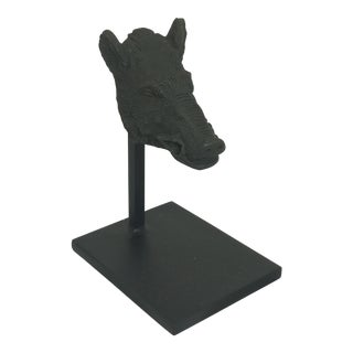 Boars Head Figurine on Stand For Sale