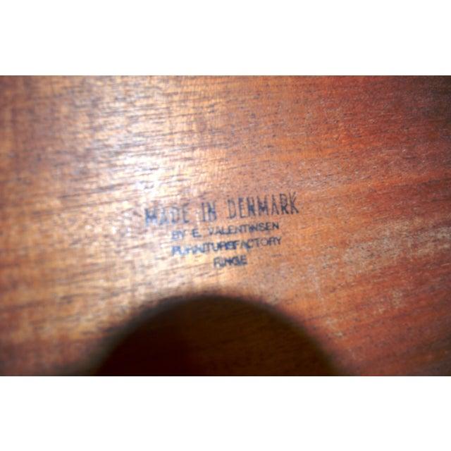 E. Valentinsen Danish Teak Expandable Dining Table For Sale - Image 7 of 10