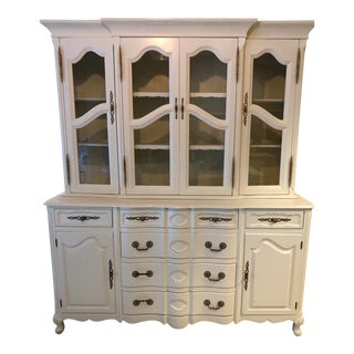 Vintage China Cabinet & Hutch For Sale