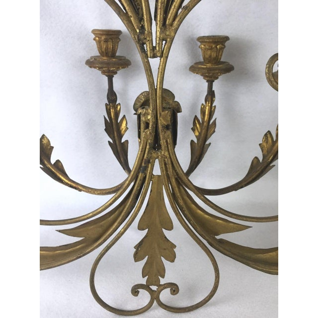 Hollywood Regency Candle Sconce For Sale - Image 10 of 11