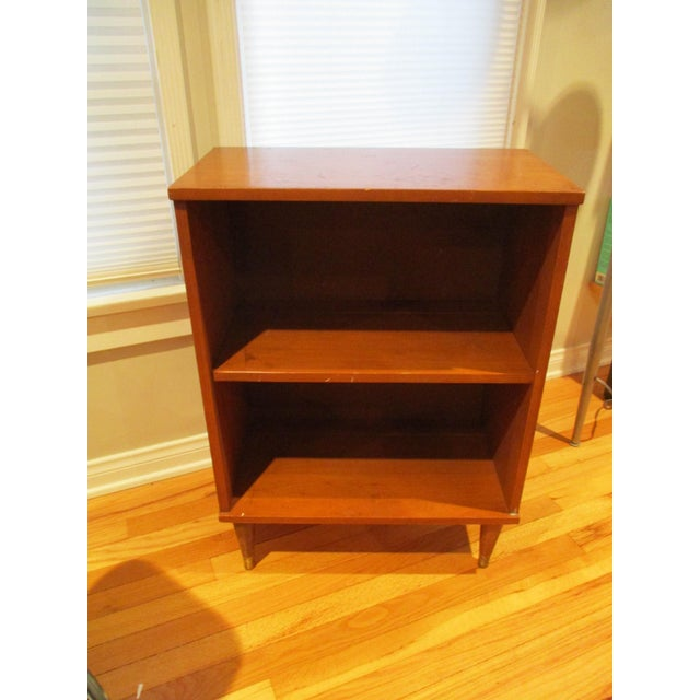 This Is A Small Bookshelf Bookcase Side Table With Atomic Tapered Legs We Did Not