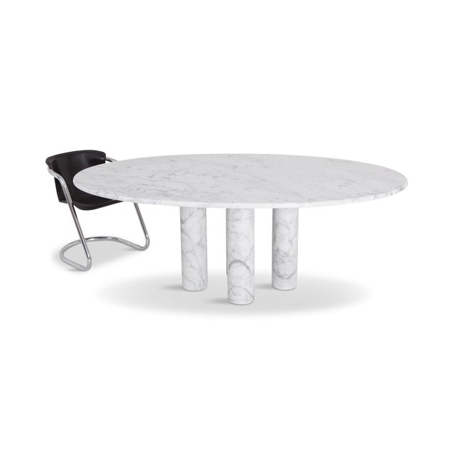 Mario Bellini Il Colonnata Oval Dining Table in Carrara Marble for Cassina For Sale - Image 11 of 12