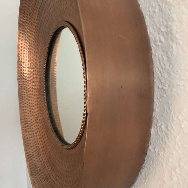 Early 21st Century Hammered Copper Wall Mirror For Sale - Image 5 of 11
