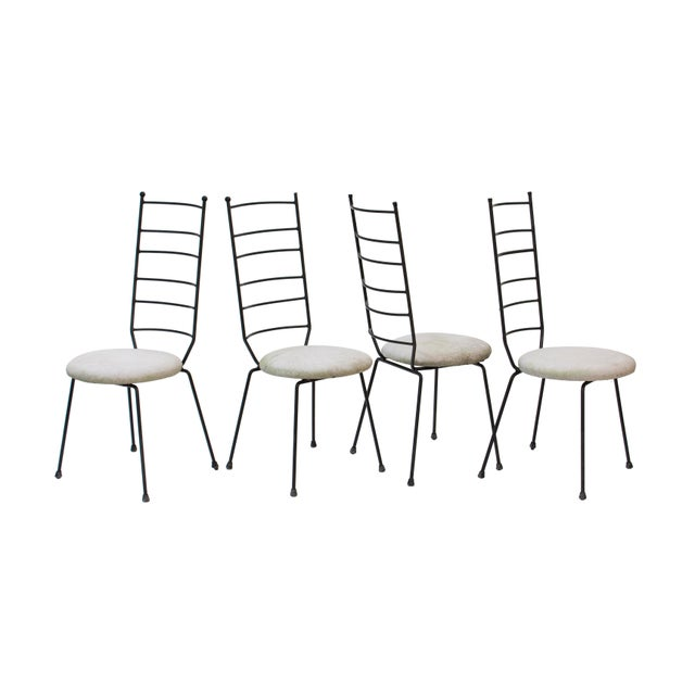 Iron Ladder Back Patio Dining Chairs, S/4 For Sale - Image 9 of 9