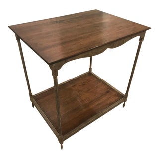 Rustic Milling Road by Baker Furniture Wooden Side Table For Sale
