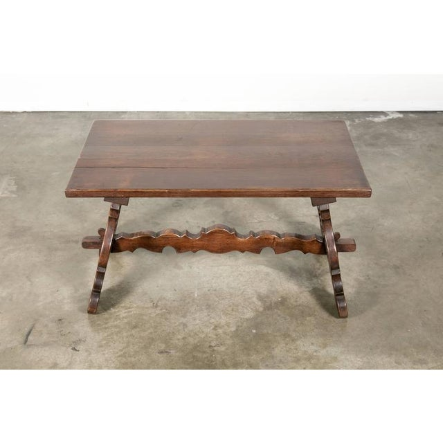Antique Spanish Colonial Style Oak Coffee Table For Sale - Image 4 of 10 - World-Class Antique Spanish Colonial Style Oak Coffee Table DECASO