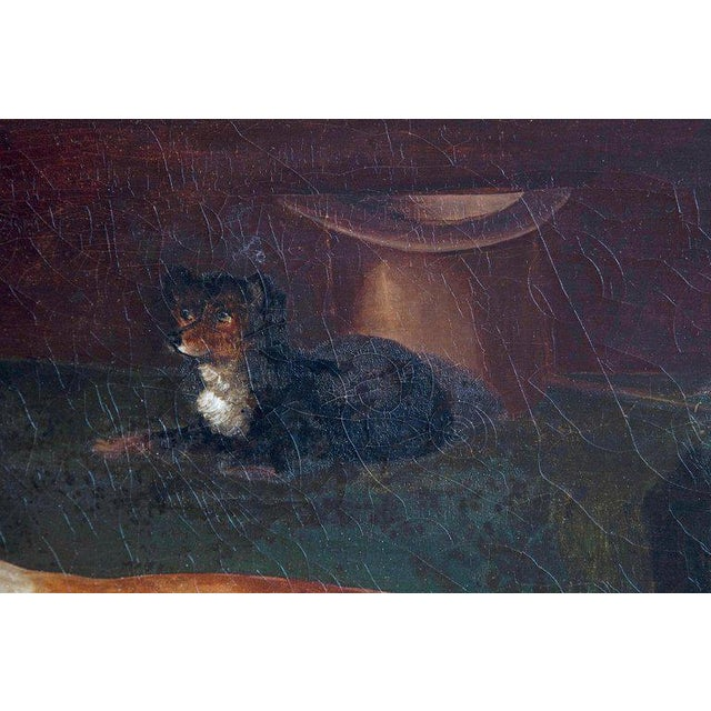 Canvas Early 19th Century English Whippet Oil Painting For Sale - Image 7 of 13