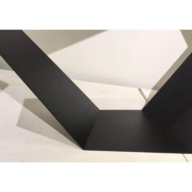 Baker Modern Black Metal Geometric Sculpture For Sale - Image 4 of 7