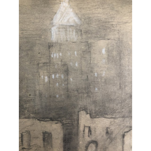 "1950s 1954 Vintage Eliot Clark ""Demolition for the Guggenheim Museum"" Drawing For Sale - Image 5 of 9"