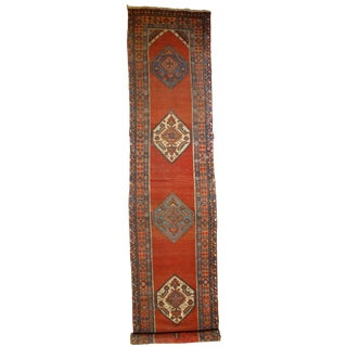 Antique Persian Bakshayesh Long Rug For Sale