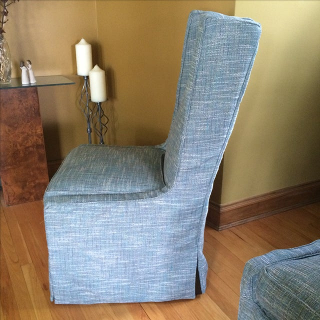 Custom Upholstered Chairs - A Pair - Image 4 of 5