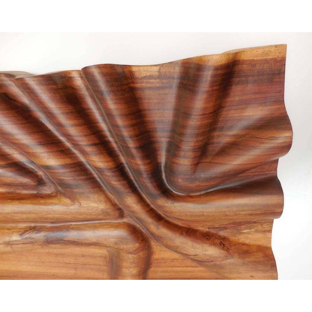 Contemporary Modern Live Edge Undulating Wall Sculpture or Headboard For Sale - Image 3 of 10