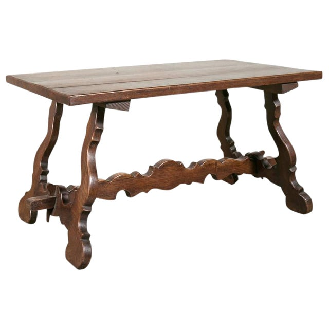 Antique Spanish Colonial Style Oak Coffee Table For Sale