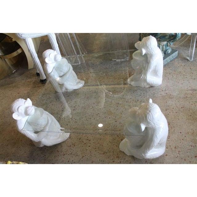 Vintage Italian Chinoiserie Ceramic Monkey Coffee Table - Image 7 of 11