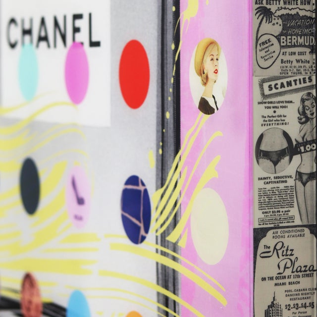 """Nelson De La Nuez """"Chanel #5 Pink With Grey Bottle (118/125)"""" Original Painting For Sale In Los Angeles - Image 6 of 11"""