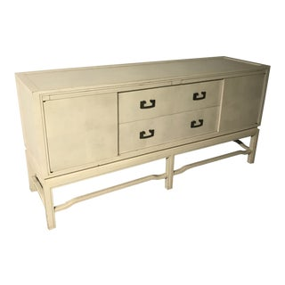 1960's Vintage White Washed Sideboard by Arthur Elrod For Sale