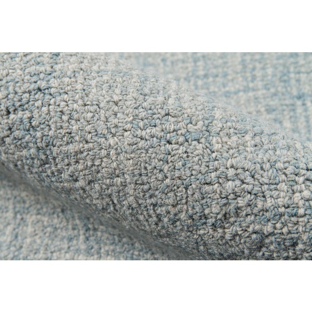 Contemporary Momeni Delhi Hand Tufted Blue Wool Area Rug - 8' X 10' For Sale - Image 4 of 6