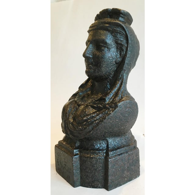 19th Century French Cast Iron Lady Bust Fragment - Image 3 of 7