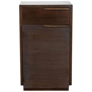 Art Deco Handrubbed Burled Walnut Nightstand by Gilbert Rohde for Herman Miller For Sale