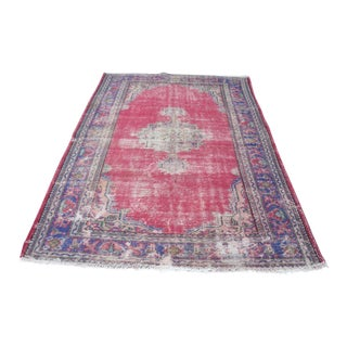 Antique Overdyed Rug- 5′11″ × 9′3″ For Sale